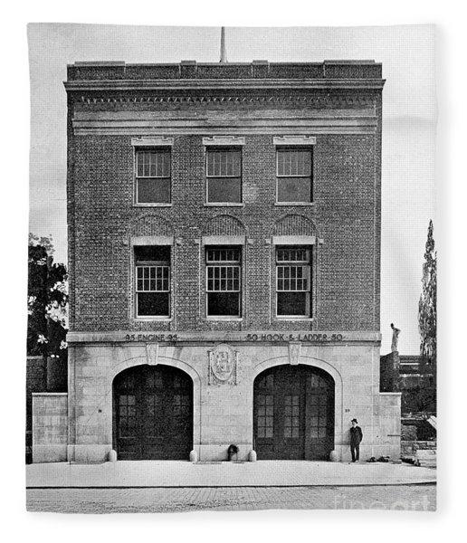 Inwood Firehouse 1918 Fleece Blanket