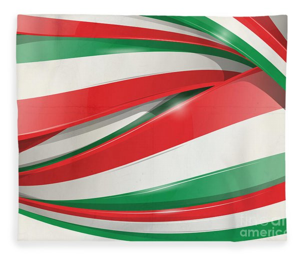 Italian Flag Background Fleece Blanket