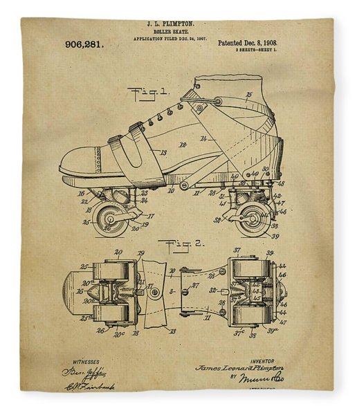 J. L. Plimpton, Roller Skate, Patented Dec.8,1908. Fleece Blanket
