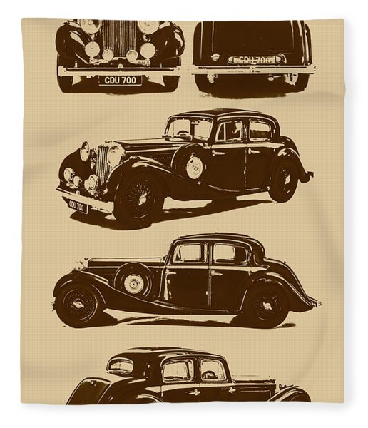 Jaguar Mark Iv Ss 2.5 Saloon Fleece Blanket