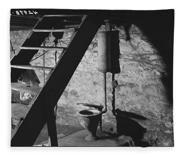 January 1940.  This Is The Only Toilet In A Two-family House In New Brighton, Pennsylvania.  Medium  Fleece Blanket