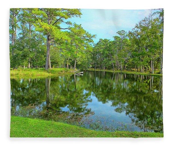 Jessamine Pond Fleece Blanket