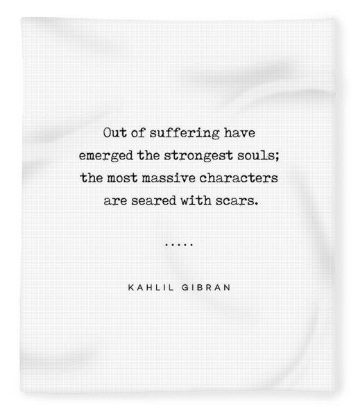Kahlil Gibran Quote 01 - Typewriter Quote - Minimal, Modern, Classy, Sophisticated Art Prints Fleece Blanket