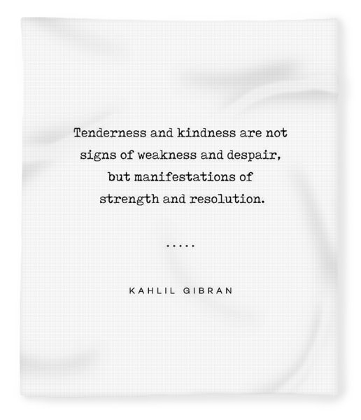 Kahlil Gibran Quote 03 - Typewriter Quote - Minimal, Modern, Classy, Sophisticated Art Prints Fleece Blanket