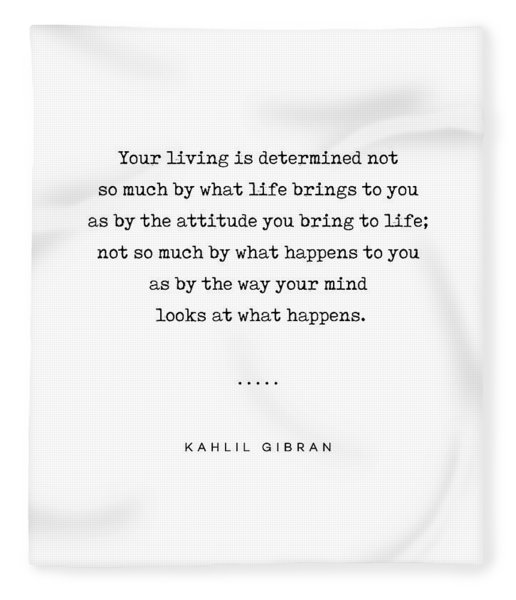 Kahlil Gibran Quote 04 - Typewriter Quote - Minimal, Modern, Classy, Sophisticated Art Prints Fleece Blanket