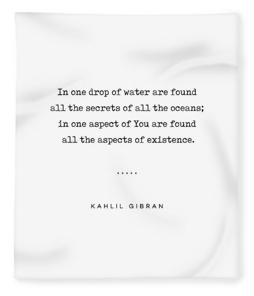 Kahlil Gibran Quote 05 - Typewriter Quote - Minimal, Modern, Classy, Sophisticated Art Prints Fleece Blanket