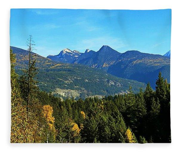Kootenay Autumn Fleece Blanket