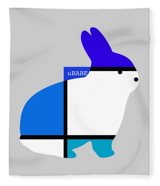 Lapin Agile Blue Fleece Blanket