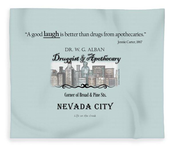 Laughter Is The Best Medicine - Apothecary Fleece Blanket