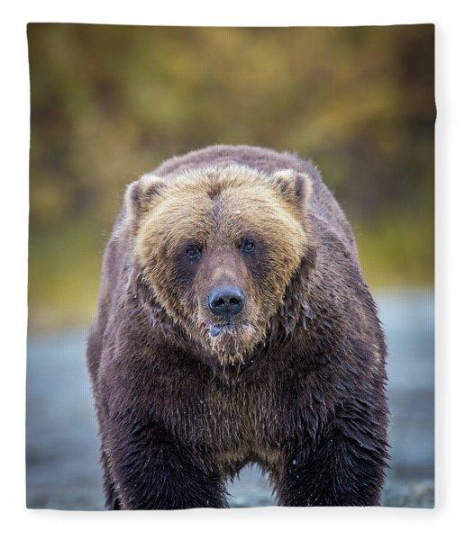 Lazy C Angry  Fleece Blanket