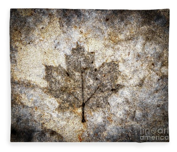 Leaf Imprint Fleece Blanket