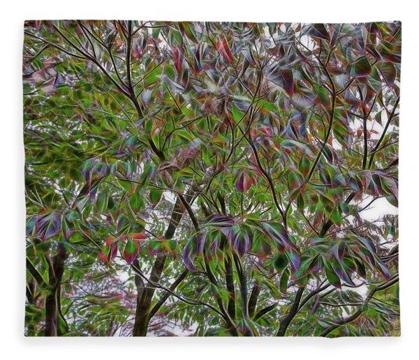 Leaves Full Of Color Fleece Blanket