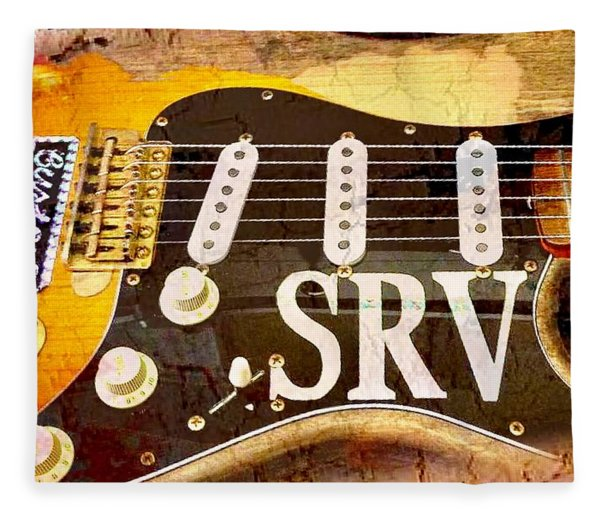 Lenny Stevie Ray Vaughans Guitar Fleece Blanket