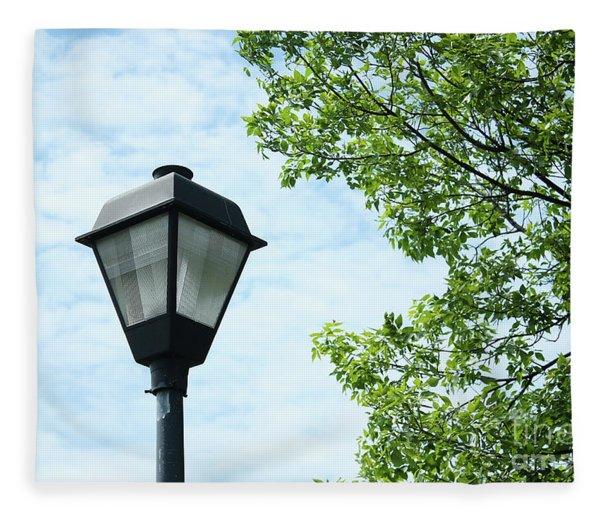 Light Pole In The Sky Fleece Blanket
