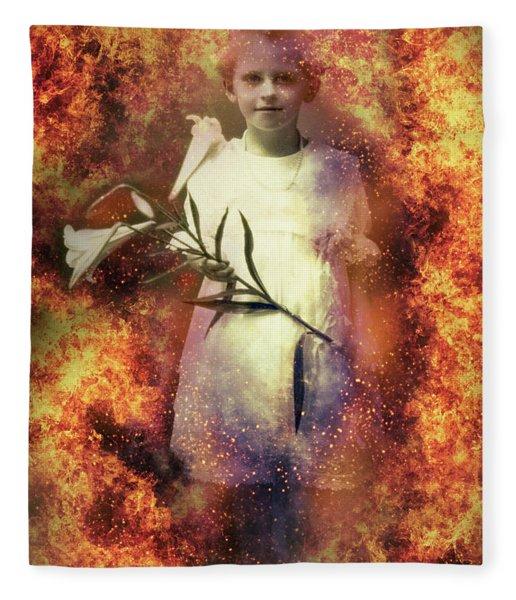 Lilies Of The Apocalypse Fleece Blanket