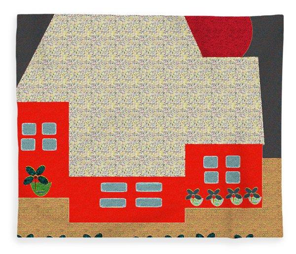 Little House Painting 4 Fleece Blanket