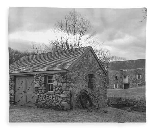 Lock House And Store - Waterloo Village Fleece Blanket
