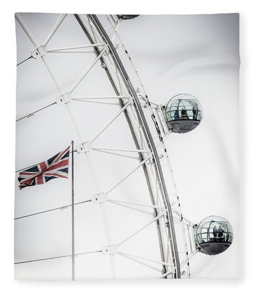 London Eye And Union Jack Fleece Blanket