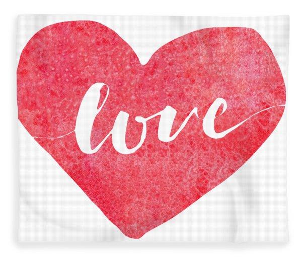 Fleece Blanket featuring the digital art Love Is In The Air by Bee-Bee Deigner