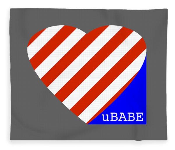 Love Ubabe America Fleece Blanket