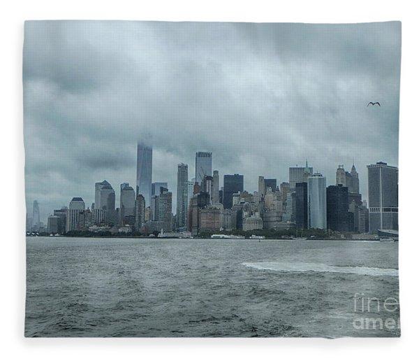 Lower Manhattan On 9/10/2018 Fleece Blanket