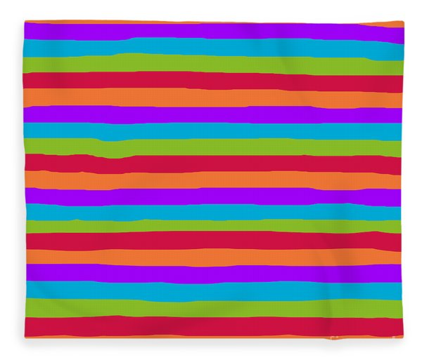 lumpy or bumpy lines abstract and summer colorful - QAB273 Fleece Blanket