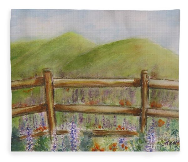 Lupines With A Side Of Poppies Fleece Blanket