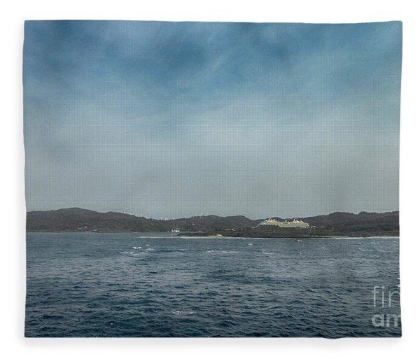 Mahogany Bay Morning Fleece Blanket