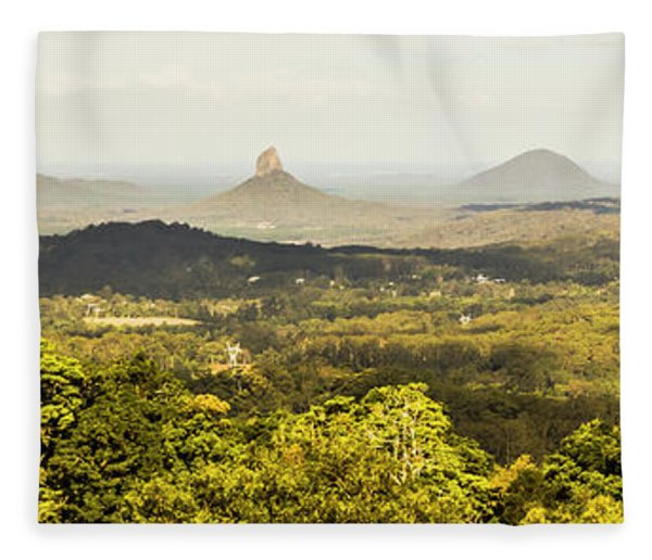 Maleny To The Glass House Mountains Fleece Blanket