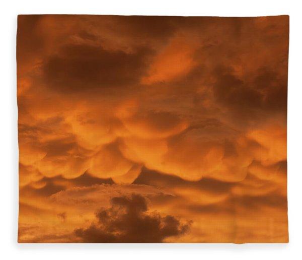 Mammatus Clouds Fleece Blanket