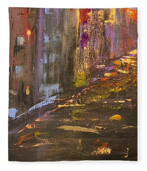 Manhattan Sunset Fleece Blanket
