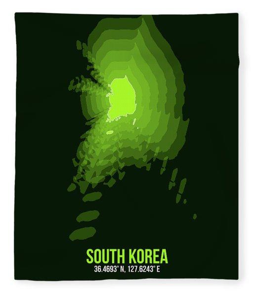 Map Of South Korea 3 Fleece Blanket