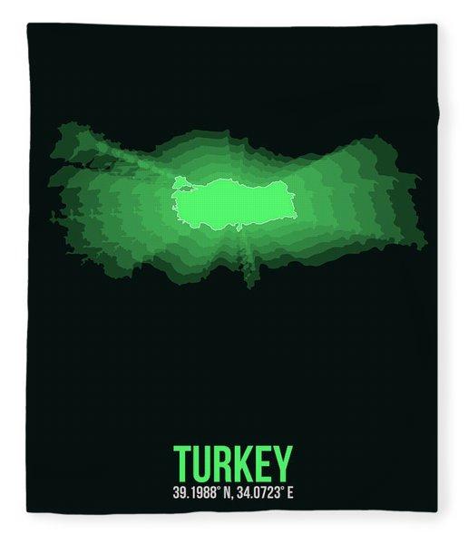 Map Of Turkey 2 Fleece Blanket