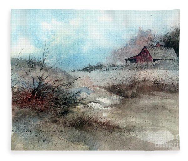 March Fields Fleece Blanket