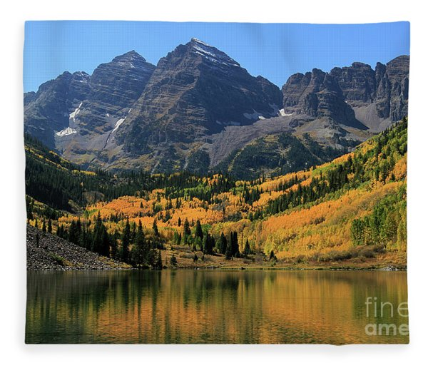 Maroon Bells In Fall Fleece Blanket