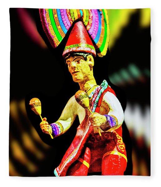 Mayan Dancer Fleece Blanket