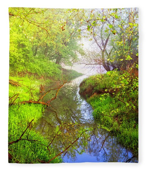 Meandering Through The Forest Glen Fleece Blanket