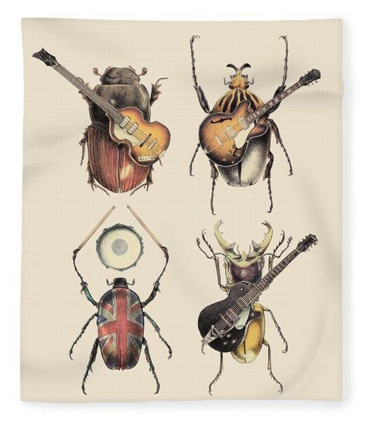 Meet The Beetles Fleece Blanket