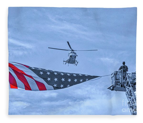 Mercy Flight Of Western New York Fleece Blanket