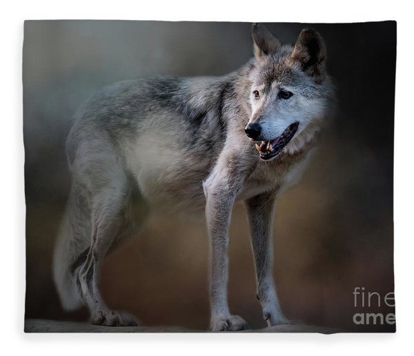 Mexican Wolf Fleece Blanket