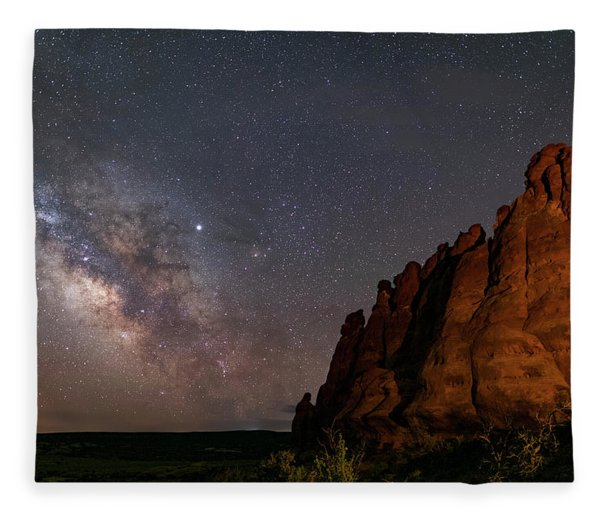 Milky Way At Navajo Rocks 2 Fleece Blanket