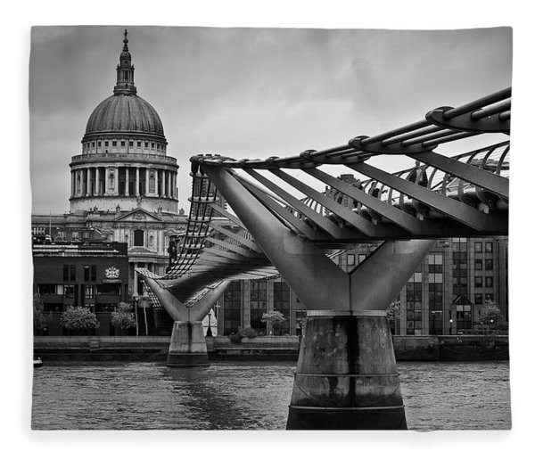 Millennium Bridge 01 Fleece Blanket