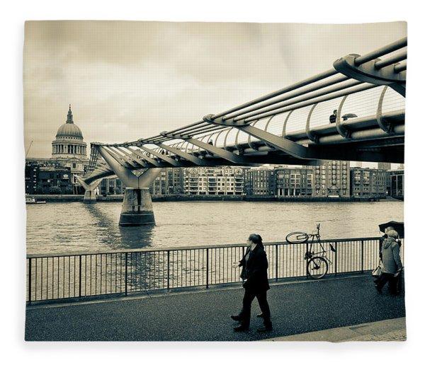 Millennium Bridge 03 Fleece Blanket