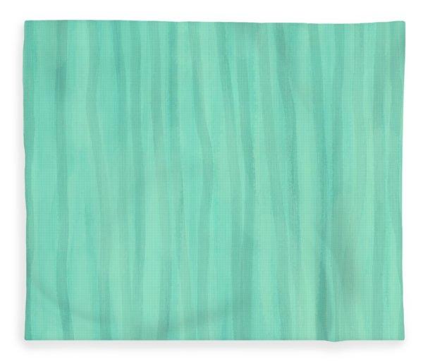 Mint Green Lines Fleece Blanket