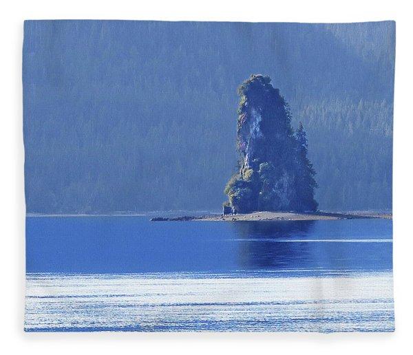 Misty Fjords Eddystone Rock Fleece Blanket