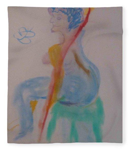 model named Helene two Fleece Blanket