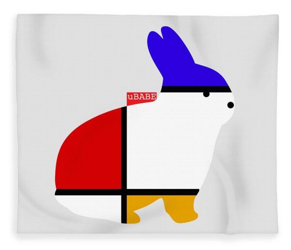 Modern White Fleece Blanket