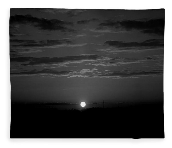 Fleece Blanket featuring the photograph Monochrome Sunrise by Bee-Bee Deigner