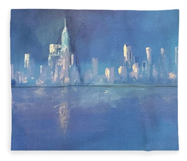 Moonlight On Manhattan  Fleece Blanket