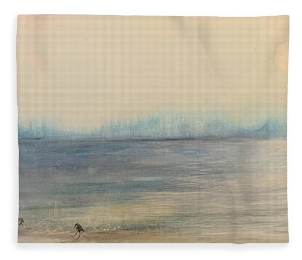 Morning On The Lake  Fleece Blanket